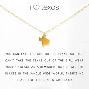 I ❤ Texas Necklace- gold